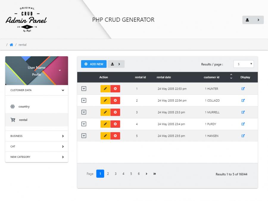 PHP CRUD Generator | StartUs